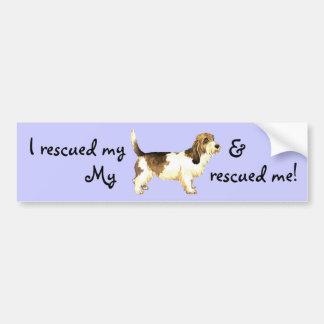 Rescue Petit Basset Griffon Vendéen Bumper Sticker