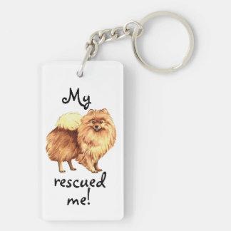 Rescue Pomeranian Double-Sided Rectangular Acrylic Key Ring