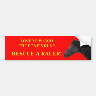 Rescue Racing Horses Bumper Sticker