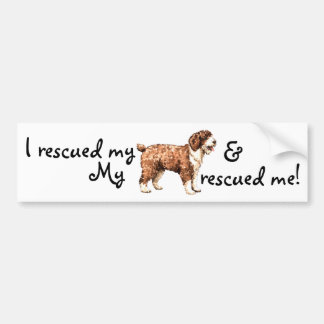 Rescue Spanish Water Dog Bumper Sticker
