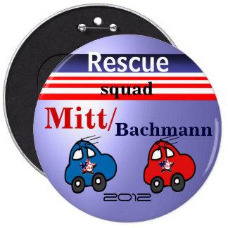 Rescue Squad 6 Cm Round Badge