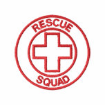 Rescue Squad Outline Embroidered Shirts