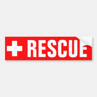 Rescue - Sticker Bumper Sticker