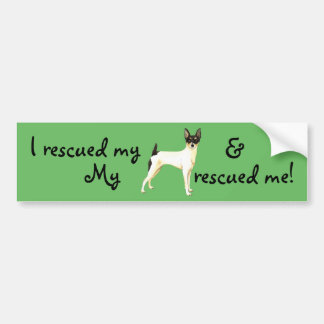 Rescue Toy Fox Terrier Bumper Sticker
