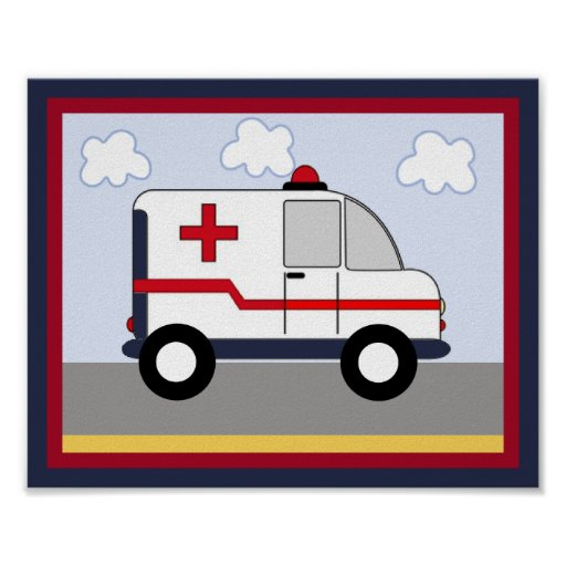 Rescue Vehicle #5 Ambulance Poster/Print