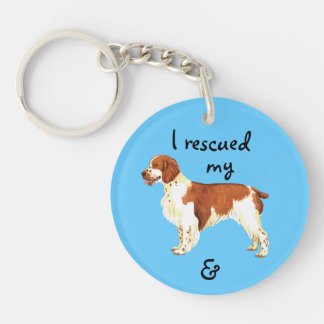 Rescue Welsh Springer Spaniel Double-Sided Round Acrylic Key Ring