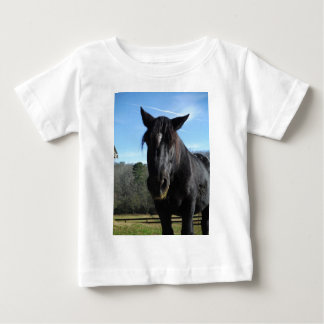 Rescued Black Draft Horse Baby T-Shirt