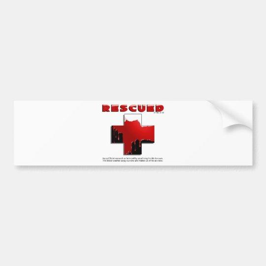 rescued bumper sticker