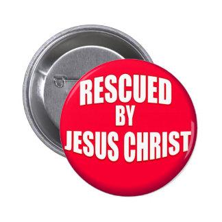Rescued by Jesus 6 Cm Round Badge