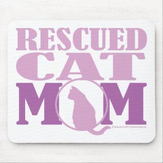 Rescued Cat Mom Mouse Pad
