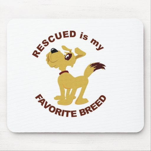 Rescued Dog Breed Mousepads