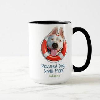 'Rescued Dogs Smile More' MUGS! Mug