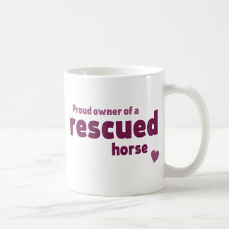 Rescued horse coffee mugs