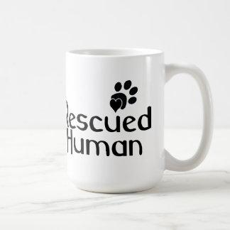 Rescued Human Dog Lover Basic White Mug