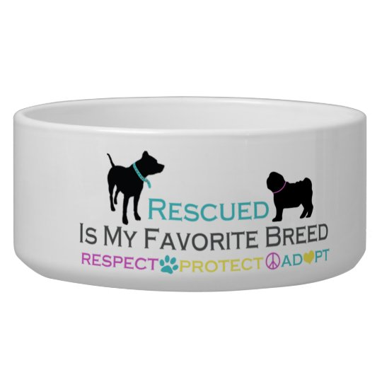 Rescued is Favourite Breed Pet Bowl