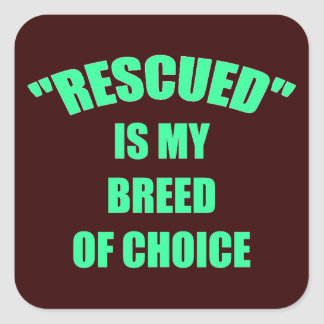 Rescued Is My Breed Of Choice Stickers