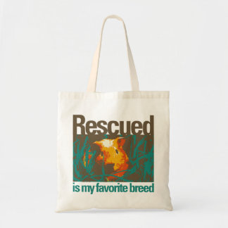 Rescued is my favorite Breed Bag, Guinea Pig Today Tote Bag