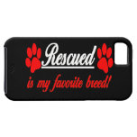 Rescued Is My Favourite Breed Paws iPhone 5 Case
