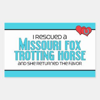 Rescued Missouri Fox Trotting Horse (Female Horse) Rectangular Sticker