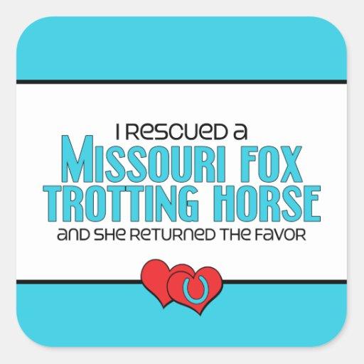 Rescued Missouri Fox Trotting Horse (Female Horse) Sticker