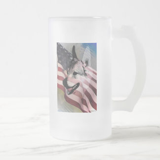 Rescued Pets and Vets Frosted Glass Mug