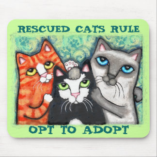 Rescued Shelter Cat s Mouse Pad