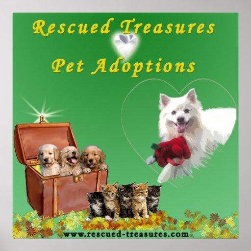 Rescued Treasures Pet Adoptions Poster