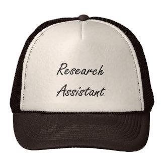 Research Assistant Artistic Job Design Trucker Hat