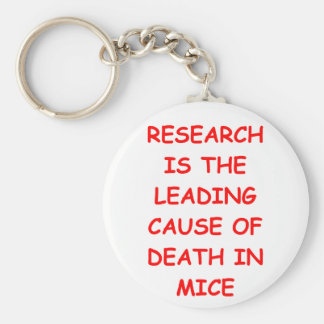 research basic round button key ring
