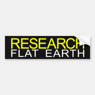 Research Flat Earth Durable Bumper Sticker