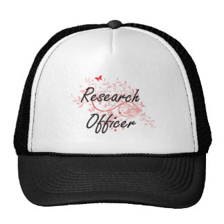 Research Officer Artistic Job Design with Butterfl Cap