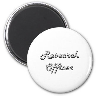 Research Officer Classic Job Design 6 Cm Round Magnet
