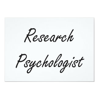 Research Psychologist Artistic Job Design 5x7 Paper Invitation Card