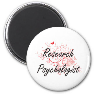 Research Psychologist Artistic Job Design with But 6 Cm Round Magnet