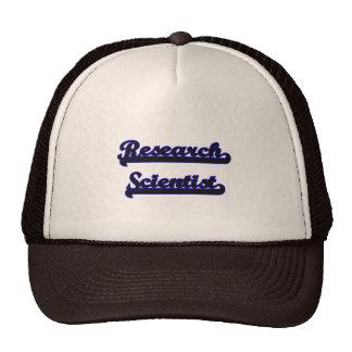 Research Scientist Classic Job Design Cap