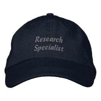 Research Specialist Embroidered Baseball Cap Hat