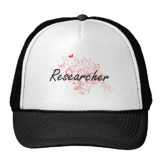 Researcher Artistic Job Design with Butterflies Cap