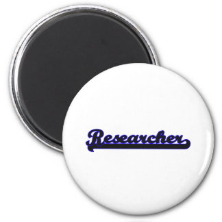 Researcher Classic Job Design 6 Cm Round Magnet