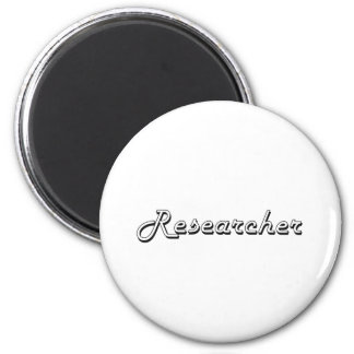 Researcher Classic Job Design 2 Inch Round Magnet