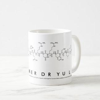 Researcher Dr Yu Liu peptide name mug