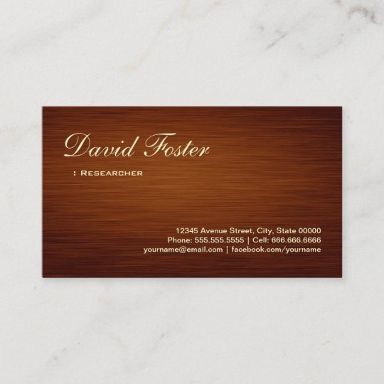 Researcher wood grain look business card zazzle researcher wood grain look business card reheart Gallery