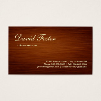 Researcher - Wood Grain Look Business Card