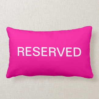 Reserved Cushion / Pillow in Hot Pink