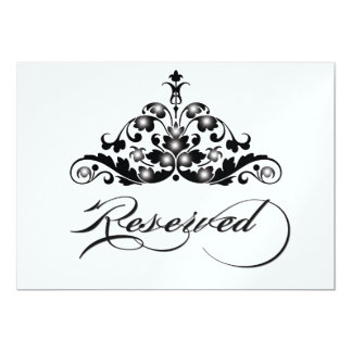 Reserved Table Sign in Ice Metallic Finish Card