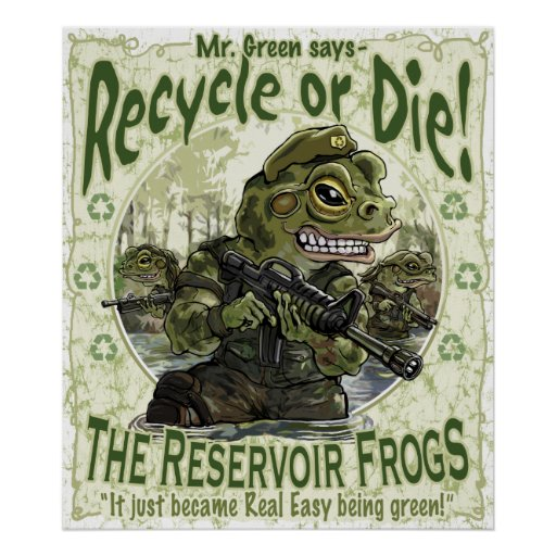 Reservoir Frogs Save Planet Earth Mascots Print