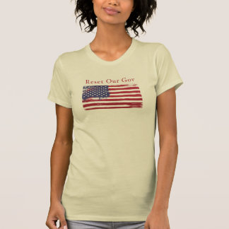 Reset Our Gov with American Flag t-shirt