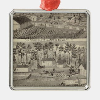 Residence and lumber mills and yards christmas ornament