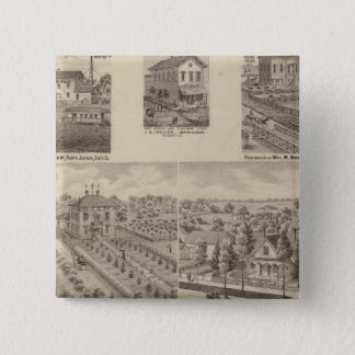 Residence and mill of L & J Keller 15 Cm Square Badge