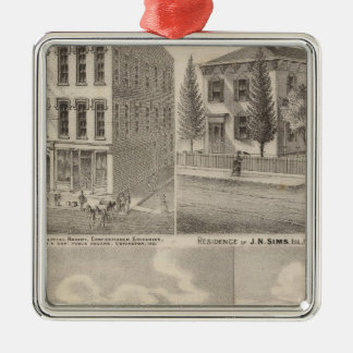 Residence and mill of Samuel Cade, Wabash Tp Christmas Ornament