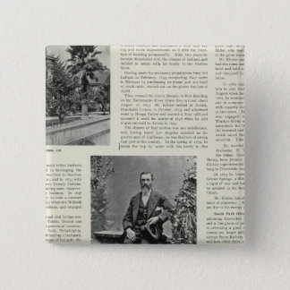 Residence and Orchard in California 15 Cm Square Badge
